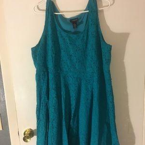 US 24 Blue Lace Lane Bryant Dress